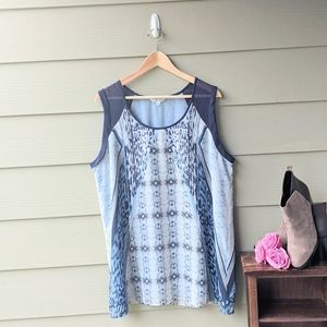 CAbi Mixed Print Tunic